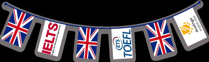 پرچم آیلتس، تافل و دولینگو و کشور انگلیس